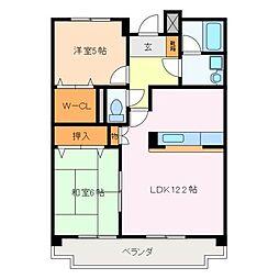 三重県松阪市末広町2の賃貸マンションの間取り