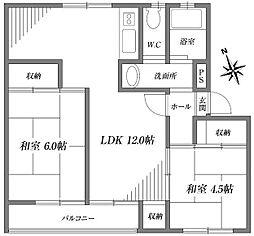 サニーホームズ[3階]の間取り