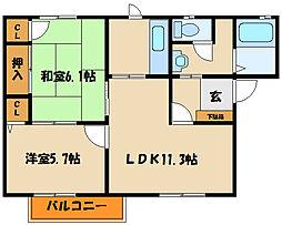 フォーレス・イン・西島A・B[2階]の間取り