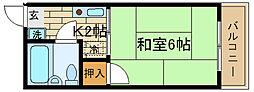 兵庫県神戸市須磨区高倉台1丁目の賃貸アパートの間取り