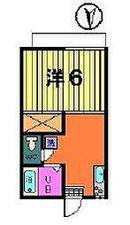 第二オリオンハイツ[2階]の間取り