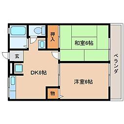 静岡県静岡市駿河区用宗の賃貸アパートの間取り