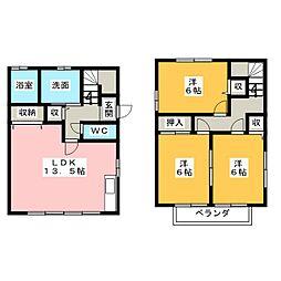 [一戸建] 愛知県一宮市西五城字杁先南 の賃貸【/】の間取り