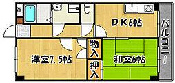 兵庫県神戸市西区北別府4丁目の賃貸マンションの間取り
