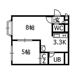 アクアボーン8・8[502号室]の間取り