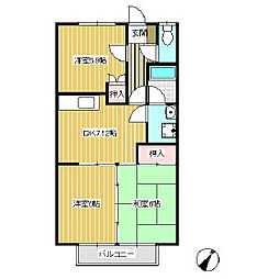 サープラス横田[2階]の間取り