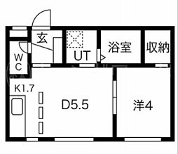PALMIRA(パルミラ)[2階]の間取り