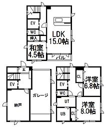 [一戸建] 北海道札幌市中央区南十二条西9丁目 の賃貸【/】の間取り