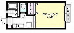 ハイツキムラB[211号室]の間取り