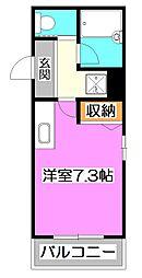 東京都練馬区石神井町3丁目の賃貸マンションの間取り