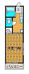 富士見ハイツ[201号室]の間取り