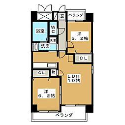 P−SQUARE Shumoku II[5階]の間取り