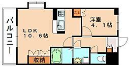 アイリスKOMODA[1階]の間取り