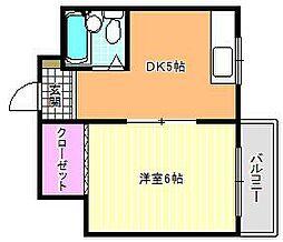 JPアパートメント東住吉IV[1階]の間取り