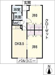 レトア文教台[1階]の間取り