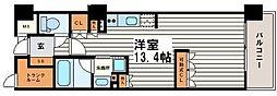 大阪府大阪市天王寺区筆ケ崎町の賃貸マンションの間取り
