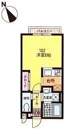 鶴ヶ峰1丁目 ブルーハイムII102[102号室]の間取り
