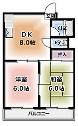 川島第17ビル[101号室]の間取り