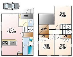 [一戸建] 兵庫県西宮市甲子園口3丁目 の賃貸【/】の間取り