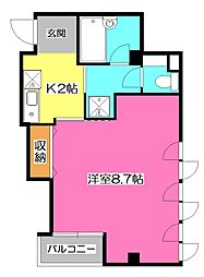 埼玉県入間市東藤沢2丁目の賃貸マンションの間取り