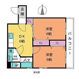 山田ビル[10階]の間取り