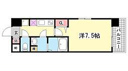 兵庫県神戸市中央区磯上通4丁目の賃貸マンションの間取り