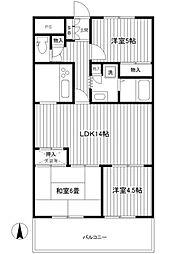 シルクハウス横浜[5階]の間取り