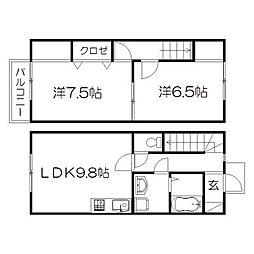 [テラスハウス] 静岡県浜松市中区花川町 の賃貸【/】の間取り