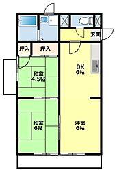 愛知県豊田市金谷町7丁目の賃貸マンションの間取り