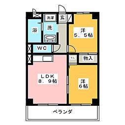 WING城山[1階]の間取り