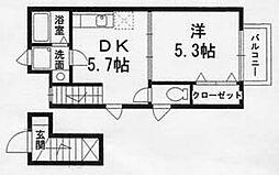 エフ・ビヤン[2階]の間取り