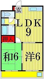 プランドール上田[305号室]の間取り