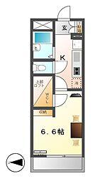 レオパレスコンチェルト2008[2階]の間取り