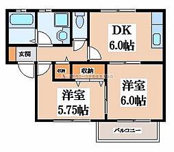 メゾン・ドゥ・若江[2階]の間取り