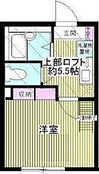神奈川県横浜市金沢区野島町の賃貸アパートの間取り