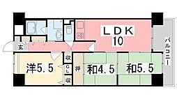 兵庫県姫路市西今宿6丁目の賃貸マンションの間取り