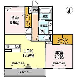 仮)D-room 和田町B[2階]の間取り