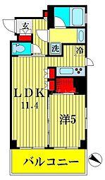 ブランシエスタ森下 8階1LDKの間取り