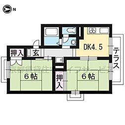 セジュールDEN[B201号室]の間取り