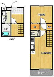 ツインフォレストI番館[2階]の間取り