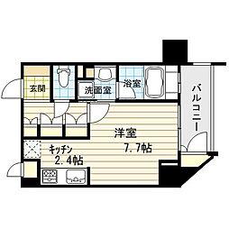 リーガル新福島[4階]の間取り
