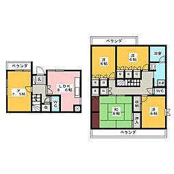 徳川山ハイツ[3階]の間取り