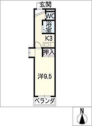 メゾンセジュール[3階]の間取り