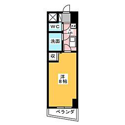 シャトー日興[1階]の間取り