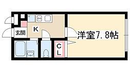 愛知県名古屋市守山区廿軒家の賃貸アパートの間取り
