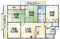 晋和ビル 3階4LDKの間取り