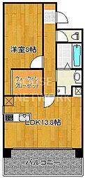 IL ROSSO堀川六角[1302号室号室]の間取り