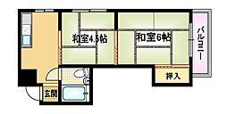 大阪府大阪市都島区高倉町3丁目の賃貸マンションの間取り