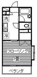 神奈川県相模原市南区御園2丁目の賃貸マンションの間取り