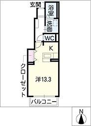 グランドエイト・K[1階]の間取り